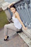 Bella posizione della ragazza Fotografie Stock