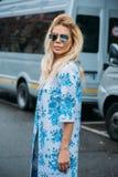 Bella Potemkina Ύφος οδών: Στις 29 Φεβρουαρίου - πτώση/χειμώνας εβδομάδας μόδας του Μιλάνου Στοκ Εικόνα