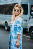 Bella Potemkina. Street Style: February 29 - Milan Fashion Week Fall/Winter Stock Image