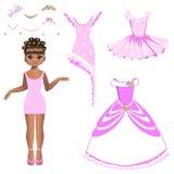 Bella principessa con una collezione di vestiti e di accessori Immagine Stock Libera da Diritti