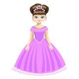 Bella principessa in gioielli Immagini Stock