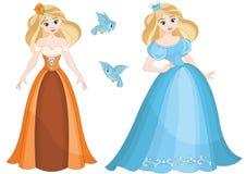 Bella principessa graziosa sveglia Cinderella fotografie stock libere da diritti