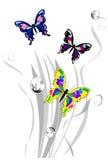 Bella priorità bassa con la farfalla Immagini Stock Libere da Diritti