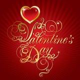 Bella priorità bassa il giorno del biglietto di S. Valentino Fotografia Stock