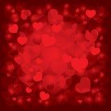 Bella priorità bassa il giorno del biglietto di S. Valentino Fotografia Stock Libera da Diritti