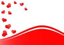 Bella priorità bassa rossa dei cuori come simbolo di amore Fotografia Stock
