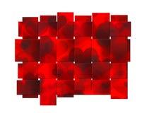 Bella priorità bassa rossa del nastro del cuore Fotografie Stock