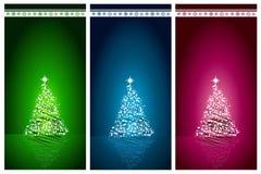 Bella priorità bassa stabilita di vettore dell'albero di Natale illustrazione di stock
