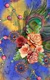 Bella progettazione del fondo con i fiori Immagini Stock Libere da Diritti