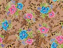Bella progettazione del fondo con i fiori Fotografie Stock