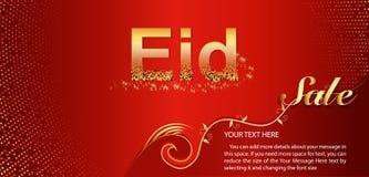 Bella progettazione del manifesto, dell'insegna o dell'aletta di filatoio per Eid Sale festival della celebrazione musulmana dell royalty illustrazione gratis