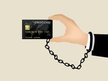 Bella progettazione della carta di credito e del debito Fotografia Stock Libera da Diritti