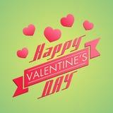 Bella progettazione della cartolina d'auguri per il celebrat felice di giorno di biglietti di S. Valentino Immagini Stock Libere da Diritti