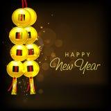 Bella progettazione della cartolina d'auguri per le celebrazioni del buon anno Fotografia Stock Libera da Diritti