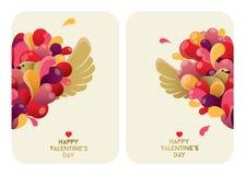 Bella progettazione di carte di San Valentino Immagine Stock