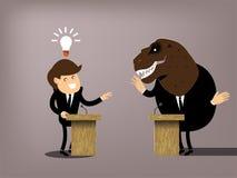 Bella progettazione grafica concettuale del dibattito Immagine Stock Libera da Diritti