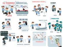 Bella progettazione grafica degli elementi medici Immagine Stock Libera da Diritti
