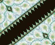 Bella progettazione variopinta della sciarpa della stampa del tessuto Fotografia Stock