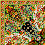 Bella progettazione variopinta della sciarpa della stampa del tessuto Immagini Stock