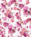 Bella progettazione variopinta della stampa del fiore illustrazione di stock