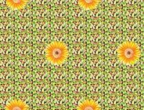 Bella progettazione variopinta della stampa del tessuto con il fiore ed il modello Fotografia Stock Libera da Diritti