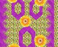 Bella progettazione variopinta della stampa del tessuto con il fiore ed il modello Immagini Stock Libere da Diritti