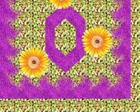 Bella progettazione variopinta della stampa del tessuto con il fiore ed il modello Immagine Stock Libera da Diritti