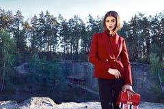 Bella raccolta di autunno di usura di donna del modello di moda Immagine Stock Libera da Diritti