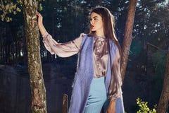 Bella raccolta di autunno di usura di donna del modello di moda Fotografia Stock Libera da Diritti