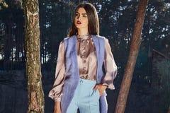 Bella raccolta di autunno di usura di donna del modello di moda Fotografie Stock Libere da Diritti