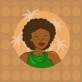 Bella ragazza africana Fotografie Stock Libere da Diritti