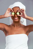 Bella ragazza afroamericana Immagini Stock Libere da Diritti