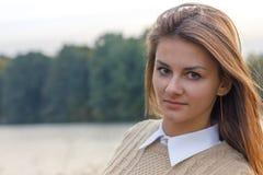Bella ragazza al tramonto Immagine Stock Libera da Diritti