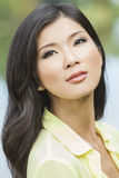 Bella ragazza asiatica cinese della giovane donna Immagini Stock Libere da Diritti