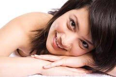 Bella ragazza asiatica della stazione termale immagine stock libera da diritti