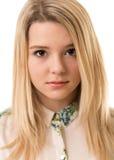 Bella ragazza bionda con gli occhi di Brown Fotografie Stock Libere da Diritti
