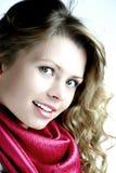 Bella ragazza bionda sorridente immagini stock libere da diritti