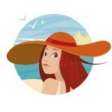 Bella ragazza in cappello Immagine Stock Libera da Diritti