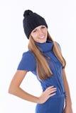 Bella ragazza in cappello di inverno Fotografia Stock Libera da Diritti