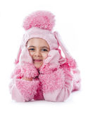 Bella ragazza che porta il costume del vestito operato Immagine Stock Libera da Diritti