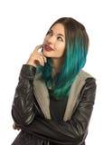 Bella ragazza che sembrano ascendente e pensare Fotografia Stock Libera da Diritti