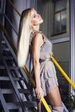 Bella ragazza con capelli biondi Immagine Stock