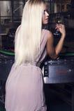 Bella ragazza con capelli biondi Fotografia Stock Libera da Diritti