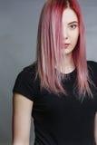 Bella ragazza con capelli dentellare Fotografia Stock Libera da Diritti