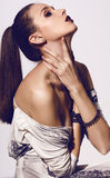 Bella ragazza con capelli scuri Fotografia Stock