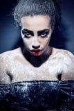 Bella ragazza con gelo sul fronte Fotografia Stock Libera da Diritti