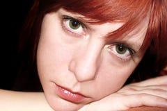 Bella ragazza con gli occhi tristi Immagini Stock