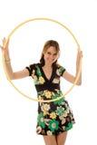 Bella ragazza con il cerchio Immagini Stock