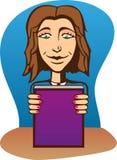 Bella ragazza con il libro. Immagine Stock