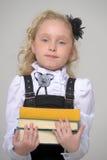 Bella ragazza con il libro Fotografia Stock
